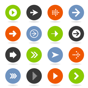 Collection of arrows for web design. A vector illustrationのイラスト素材 [FYI03092859]
