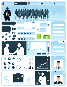 Business a site. Business a site in dark blue tones. A vector illustrationのイラスト素材 [FYI03092864]