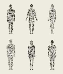 Set compound the person. A vector illustrationのイラスト素材 [FYI03092880]