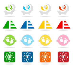 Collection of buttons7. Set of icons for web design. A vector illustrationのイラスト素材 [FYI03092882]