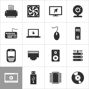 Set of icons the computer for design. A vector illustrationのイラスト素材 [FYI03092883]