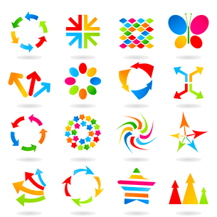 Set of elements for design. A vector illustrationのイラスト素材 [FYI03092888]
