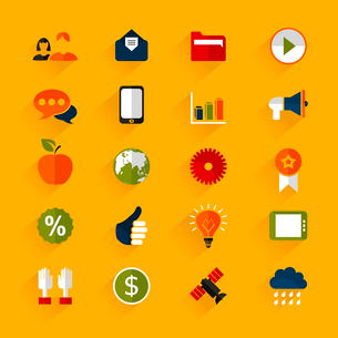 Set of icons for web design. A vector illustrationのイラスト素材 [FYI03092891]