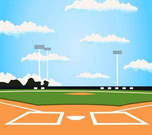 Field for baseball. A vector illustrationのイラスト素材 [FYI03092895]