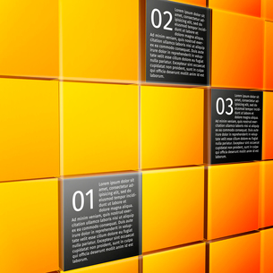 Abstract 3d cubes wall infographic design elements layout template for presentation report vector ilのイラスト素材 [FYI03092940]
