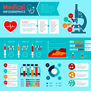 Flat medical emergency first aid care infographic elements with charts and graphs vector illustratioのイラスト素材 [FYI03092966]