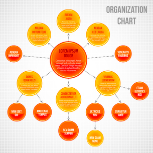 Organizational chart infographic business bubbles circle work process vector illustrationのイラスト素材 [FYI03092987]
