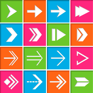 Right forward next arrows symbols icons set for electronic devices flat isolated vector illustrationのイラスト素材 [FYI03093023]