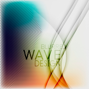 Textured blurred color wave background. Futuristic hi-tech modern business or technology design tempのイラスト素材 [FYI03093204]