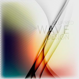 Textured blurred color wave background. Futuristic hi-tech modern business or technology design tempのイラスト素材 [FYI03093205]