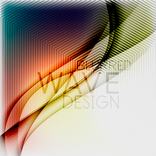 Textured blurred color wave background. Futuristic hi-tech modern business or technology design tempのイラスト素材 [FYI03093206]
