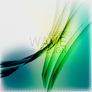 Textured blurred color wave background. Futuristic hi-tech modern business or technology design tempのイラスト素材 [FYI03093207]