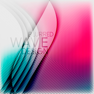 Textured blurred color wave background. Futuristic hi-tech modern business or technology design tempのイラスト素材 [FYI03093208]