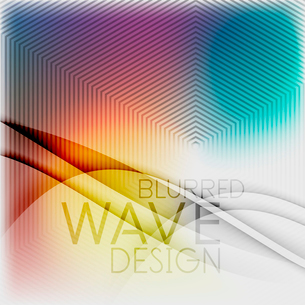 Textured blurred color wave background. Futuristic hi-tech modern business or technology design tempのイラスト素材 [FYI03093209]