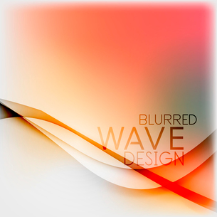 Textured blurred color wave background. Futuristic hi-tech modern business or technology design tempのイラスト素材 [FYI03093210]
