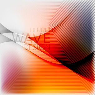 Textured blurred color wave background. Futuristic hi-tech modern business or technology design tempのイラスト素材 [FYI03093213]