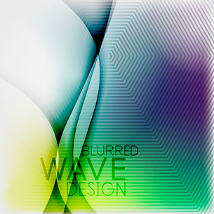 Textured blurred color wave background. Futuristic hi-tech modern business or technology design tempのイラスト素材 [FYI03093214]