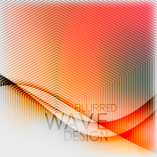 Textured blurred color wave background. Futuristic hi-tech modern business or technology design tempのイラスト素材 [FYI03093215]