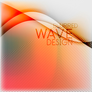 Textured blurred color wave background. Futuristic hi-tech modern business or technology design tempのイラスト素材 [FYI03093216]