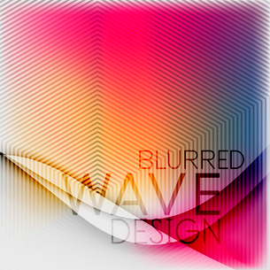 Textured blurred color wave background. Futuristic hi-tech modern business or technology design tempのイラスト素材 [FYI03093224]