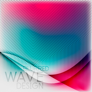 Textured blurred color wave background. Futuristic hi-tech modern business or technology design tempのイラスト素材 [FYI03093225]
