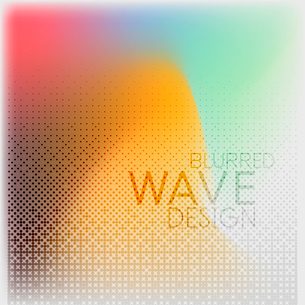 Textured blurred color wave background. Futuristic hi-tech modern business or technology design tempのイラスト素材 [FYI03093226]