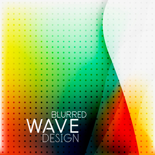 Colorful blurred wave business hi-tech background with dot textrureのイラスト素材 [FYI03093231]