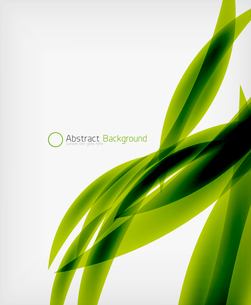 Green eco abstract line composition design template with copy spaceのイラスト素材 [FYI03093384]