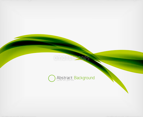 Green eco abstract line composition design template with copy spaceのイラスト素材 [FYI03093385]