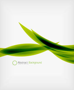 Green eco abstract line composition design template with copy spaceのイラスト素材 [FYI03093386]