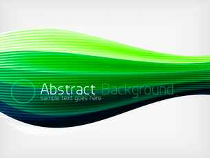 Green eco abstract line composition design template with copy spaceのイラスト素材 [FYI03093387]