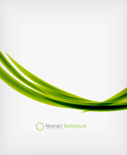Green eco abstract line composition design template with copy spaceのイラスト素材 [FYI03093388]