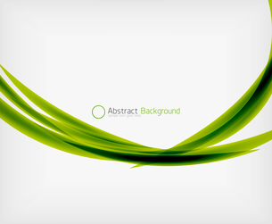 Green eco abstract line composition design template with copy spaceのイラスト素材 [FYI03093389]