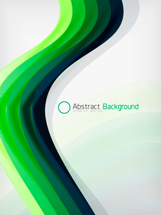Green eco abstract line composition design template with copy spaceのイラスト素材 [FYI03093393]