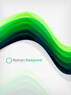 Green eco abstract line composition design template with copy spaceのイラスト素材 [FYI03093395]