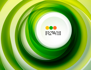 Geometric colorful circles background with copyspaceのイラスト素材 [FYI03093435]