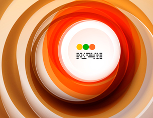Geometric colorful circles background with copyspaceのイラスト素材 [FYI03093438]