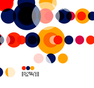 Geometric colorful circles background on white with copyspaceのイラスト素材 [FYI03093445]