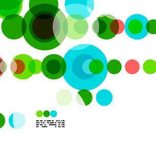 Geometric colorful circles background on white with copyspaceのイラスト素材 [FYI03093450]