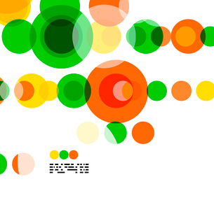 Geometric colorful circles background on white with copyspaceのイラスト素材 [FYI03093451]