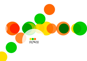 Geometric colorful circles background on white with copyspaceのイラスト素材 [FYI03093453]