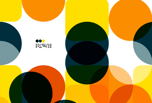 Warm modern color geometric shape abstract background with copy spaceのイラスト素材 [FYI03093470]