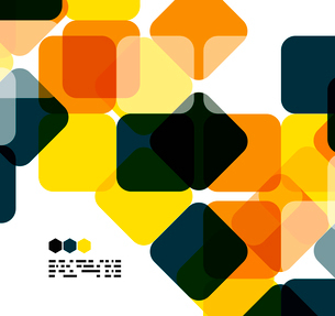 Warm modern color geometric shape abstract background with copy spaceのイラスト素材 [FYI03093476]