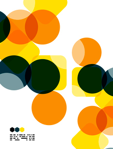 Warm modern color geometric shape abstract background with copy spaceのイラスト素材 [FYI03093478]