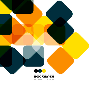 Warm modern color geometric shape abstract background with copy spaceのイラスト素材 [FYI03093479]
