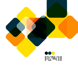 Warm modern color geometric shape abstract background with copy spaceのイラスト素材 [FYI03093481]