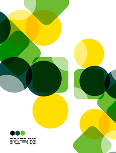 Warm modern color geometric shape abstract background with copy spaceのイラスト素材 [FYI03093489]