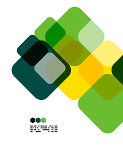 Warm modern color geometric shape abstract background with copy spaceのイラスト素材 [FYI03093491]