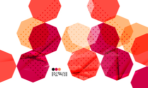 Bright red textured geometric shapes isolated on white - modern design templateのイラスト素材 [FYI03093509]