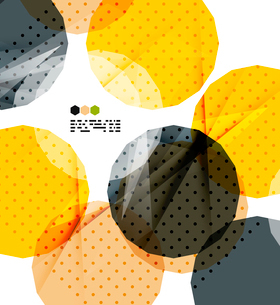Bright yellow and dark textured geometric shapes isolated on white - modern design templateのイラスト素材 [FYI03093532]